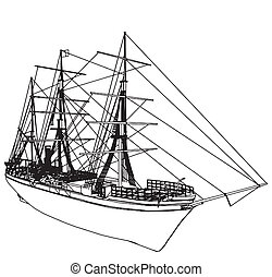 Sailing Ship Vector