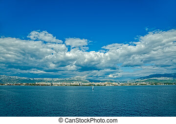 Sailing Split waters - Yacht sailing in front of the largest...