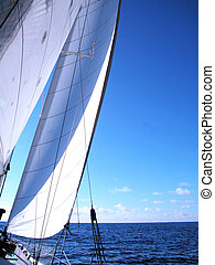sailing - sails with wind
