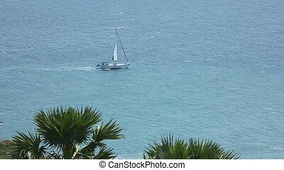 Sailing - Boat sailing in the Andaman sea, Thailand.