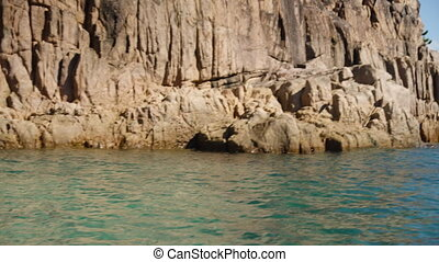 Sailing through rock limestones - A shot of rock textures...