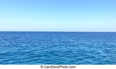 Sailing thru Mediterranean sea near Cyprus