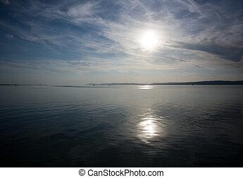 Sailing to the horizon.