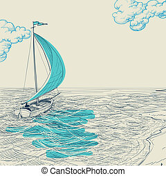 Sailing vector background
