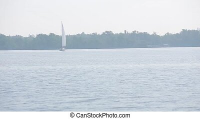 sailing-vessel on the small river