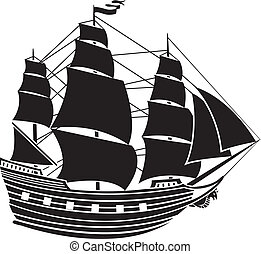 Sailing vessel stencil