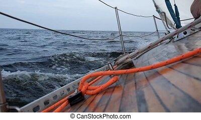 sailing yacht in osean or sea