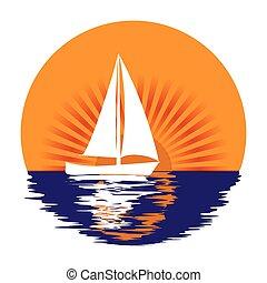 sailing yacht in the sun