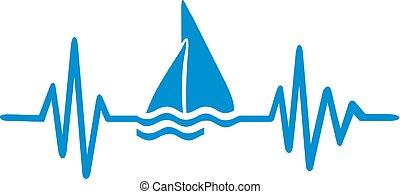 sailingboat, battito cardiaco, linea