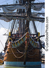 sailingship, öreg, frontside