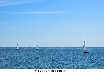 Sailng on the Baltic sea