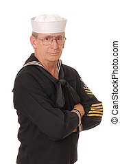 Old sailor from the United States Navy