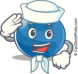 Sailor blueberry character cartoon style