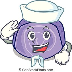 Sailor blueberry roll cake character cartoon