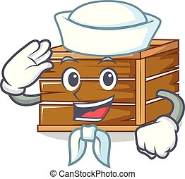 Sailor crate character cartoon style