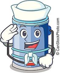 Sailor cylinder bucket Cartoon of for liquid