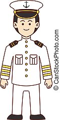 Sailor doodle cartoon illustration