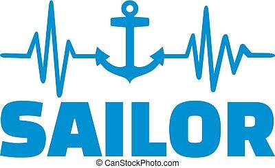 Sailor heartbeat line job title german