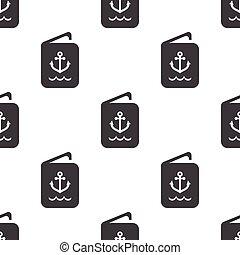 sailor ID icon on white background