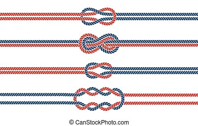 Sailor knot and rope dividers and borders set