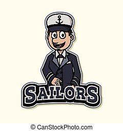 sailor logo illustration design