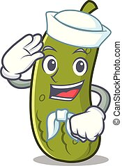 Sailor pickle character cartoon style