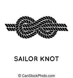 Sailor rope knot - Sailor knot. Nautical rope infinity sign...