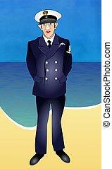 Sailor - Royal navy sailor in uniform.