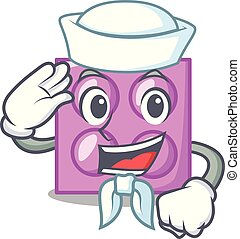 Sailor toy brick character cartoon
