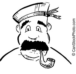 Sailor with tobacco pipe