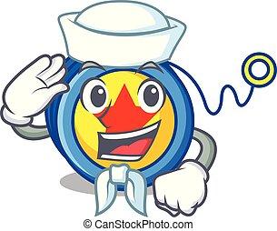 Sailor yoyo character cartoon style vector illustration