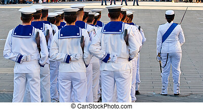 Sailors in uniform