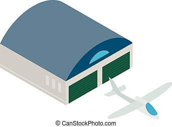 Sailplane icon. Isometric illustration of sailplane vector icon for web