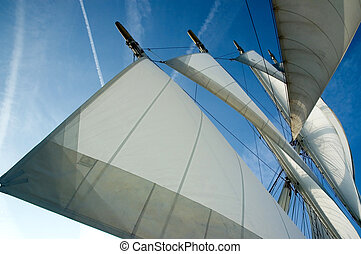 Sails away - Sails on an old ship