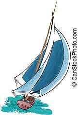 sails - sailboat