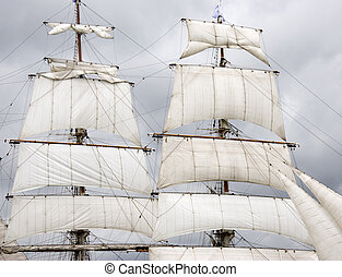 sails - white sails of an old sailship