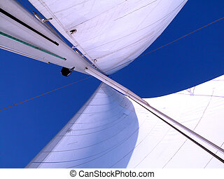 sails with wind