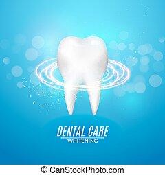 sain, affiche, dentaire, dent, vecteur, propre, design., soin, concept., icône