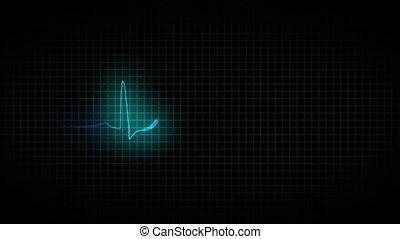 sain, cardiogramme, coeur