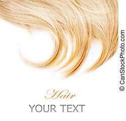 sain, cheveux, blanc, isolé, blonds
