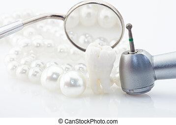 sain, concept, dents