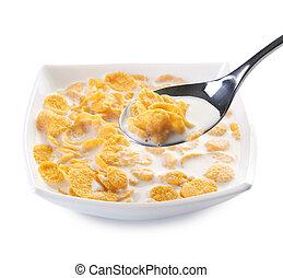 sain, cornflakes, eating.