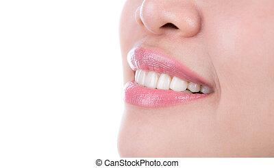 sain, femme, dents