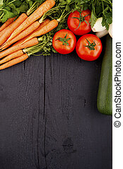 sain, légumes, bois, organique, fond