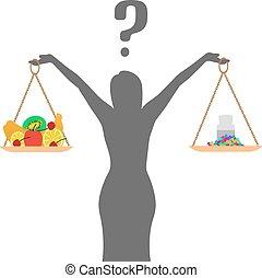 sain, nutrition, concept, régime