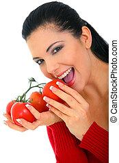 sain, organique, manger