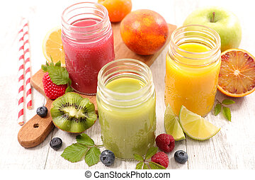 sain, smoothie, fruit