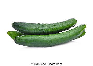 sain, suhyo, légumes, isolé, japonaise, concombre, fond, vert, frais, blanc, ou, courgette