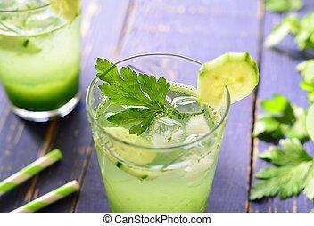 sain, vert, detox, boisson