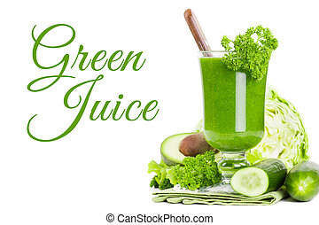 sain, vert, jus, smoothie